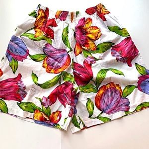 Vintage 90s High Waist Floral Shorts Tulip